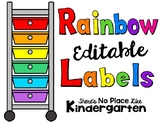 Rainbow Drawers EDITABLE Labels