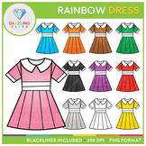 Rainbow Dress Clip Art