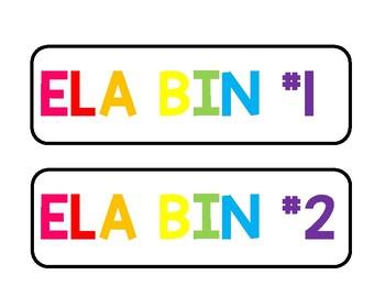 Rainbow ELA & Math Ikea Trofast Labels