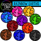 Rainbow Earths {Creative Clips Digital Clipart}