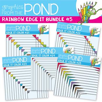 Rainbow Edge It Borders Bundle 5