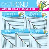 Rainbow Edge It Borders Bundle 1
