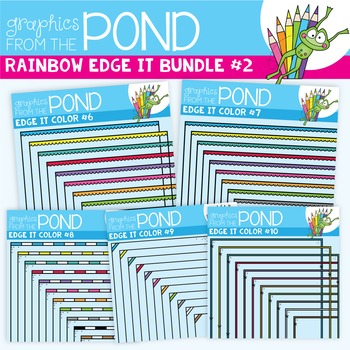 Rainbow Edge It Borders Bundle 2