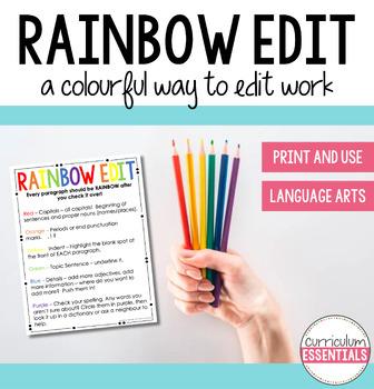 Rainbow Edit Writing Strategy