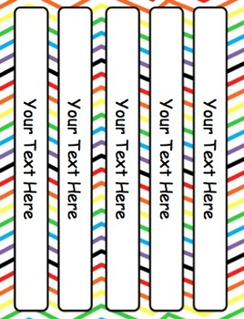 3 inch binder spine template word - rainbow editable binder covers dividers and spine