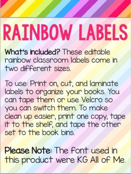 Rainbow Editable Labels