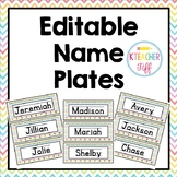 Rainbow Editable Name Plates