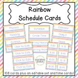 Rainbow Editable Schedule Cards