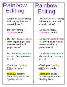 Rainbow Editing Bookmark