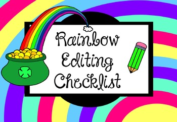 Rainbow Editing Checklist