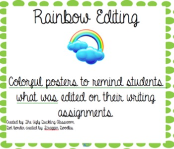 Rainbow Editing Posters