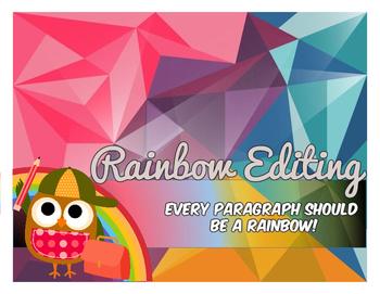 Rainbow Editing - Task Cards
