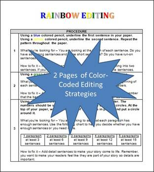 Rainbow Editing - for use with ANY writing piece