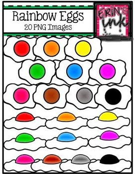Rainbow Egg Clipart