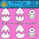 Rainbow Egg Puzzles and Chicks Clip Art