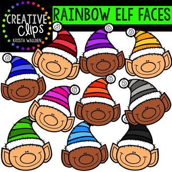 Rainbow Elf Clipart: Faces {Creative Clips Clipart}