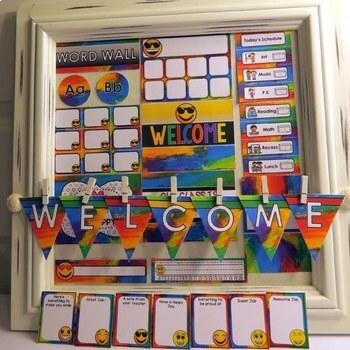 Rainbow Emoji Theme Back to School Decor, Gifts, Activities