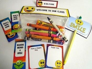 Rainbow Emoji Theme Back to School Decor Gifts Activities