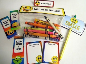 Rainbow Emoji Theme Back to School Classroom Decor