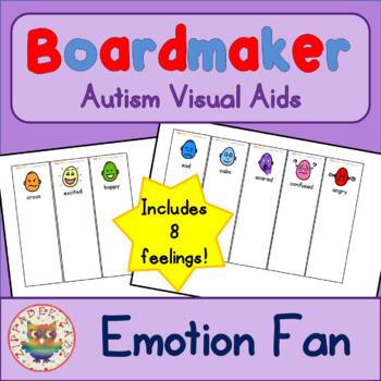 Emotion Feelings Fan - Boardmaker Visual Aids for Autism SPED