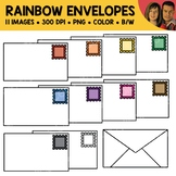 Rainbow Envelope Clipart