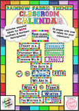 Rainbow Fabric Classroom Calendar Display Labels -Northern & Southern Hemisphere