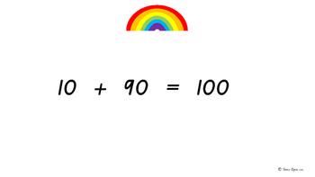 to 100 Rainbow Fact/ Bridging to ten/ Make to ten Classroom Math Warm-up
