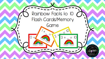 Rainbow Fact Flash Cards/Memory Game
