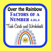 Rainbow Factors Task Cards and Worksheets 4.OA.4