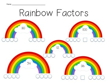 Rainbow Factors Worksheet