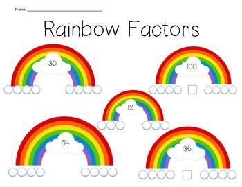 Rainbow Factors Worksheet By Upper Elementary Learning Tpt