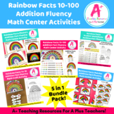 Rainbow Facts 10-100 Math Center Activities BUNDLE
