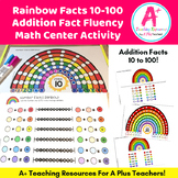 Rainbow Facts 10 to 100 Math Center