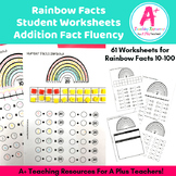 Rainbow Facts 10 to 100 Student Worksheets