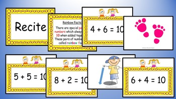 Rainbow Facts Addition Mental Maths Addition Game, Brain Break or Maths Warm Up