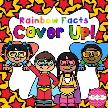 Rainbow Facts Cover Up! Superhero Theme