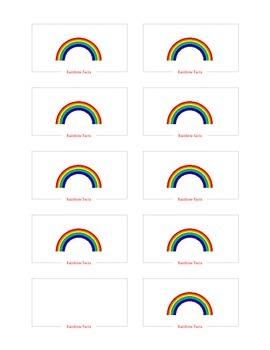 Rainbow Facts Flash Cards