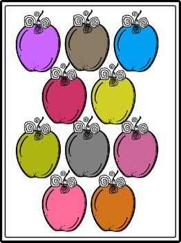 Rainbow Fancy Apples Clipart