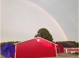 Rainbow Farm Stock Photo