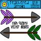 Rainbow Feathered Arrows Clip Art
