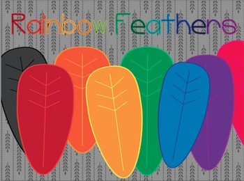 Rainbow Feathers {Freebie!}
