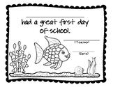 Rainbow Fish 1st Day of School Certificate