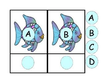 Rainbow Fish Alphabet Match