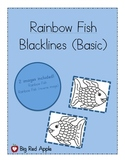 Rainbow Fish: Character Black Lines (Basic)