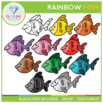 The Rainbow Fish Clipart Worksheets Teaching Resources TpT