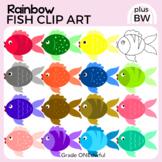 Rainbow Fish Clip Art, CU Okay