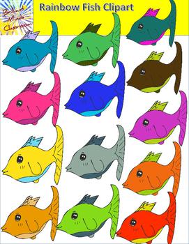 Rainbow Fish Clipart - 14 Graphics
