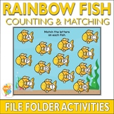Rainbow Fish Counting and Matching File Folder Activities
