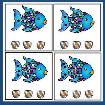 Rainbow Fish FREE Math Task Cards