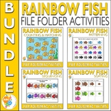 Rainbow Fish File Folder Activities for Early Childhood Education Bundle